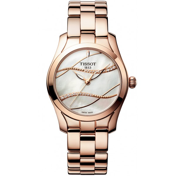 Tissot T112.210.33.111.00 Női Karóra - T-Wave Mother of Pearl Diamond