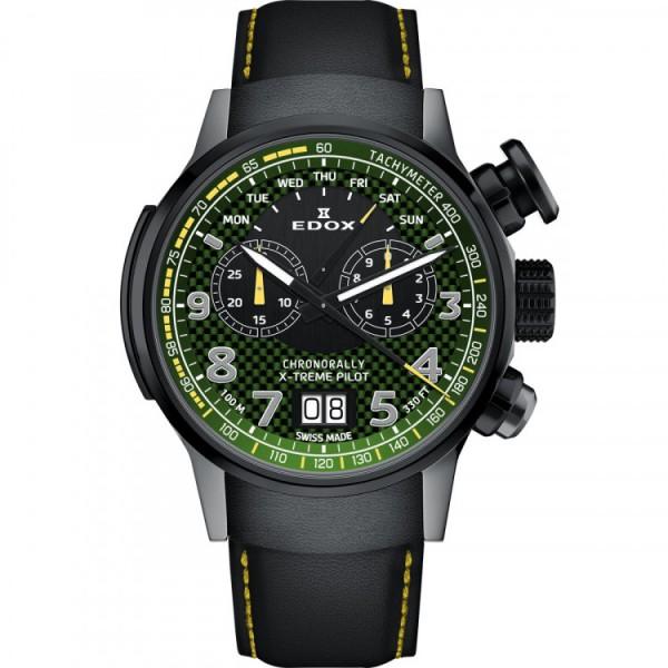 Edox 38001 TINGN V3 Férfi Karóra - Chronorally Xtreme Pilot Limited Edition