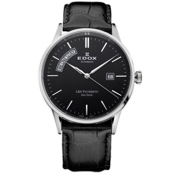 Edox 83007 3 NIN Férfi Karóra - Les Vauberts Automatic Day Date
